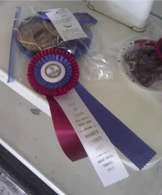 Warren County Fair Ribbon 2012